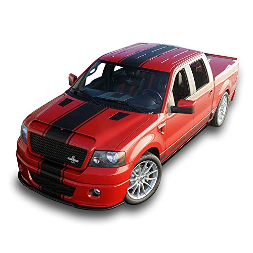 Bubbles Designs 1x Full Stripe Kit Decal Sticker Graphic Compatible with Ford F150 2009-2016 Shelby (Ford Shelby Svt)