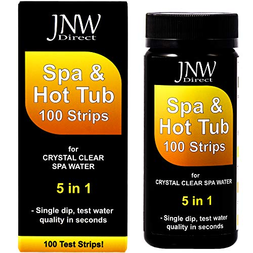 Way Water Strips 3 Test (JNW Direct Spa Test Strips for Hot Tubs - 5 in 1, Best Kit for Accurate Water Quality Testing at Home, 100 Strip MEGA Pack)