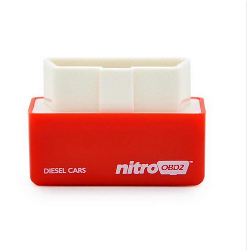 Plug and Drive NitroOBD2 Performance Chip Tuning Box for Petrol Cars (Green-Eco) Aquiver