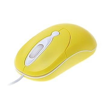 Amarillo 3D óptico USB mini ratones de la rueda de desplazamiento del ratón para el ordenador portátil PC: Amazon.es: Electrónica