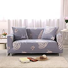 Forcheer Stretch Couch Covers Sofa Slipcovers Fitted Loveseat Cover Seat Furniture Protector (Printed #3 ,4 Seat for 235-300cm)