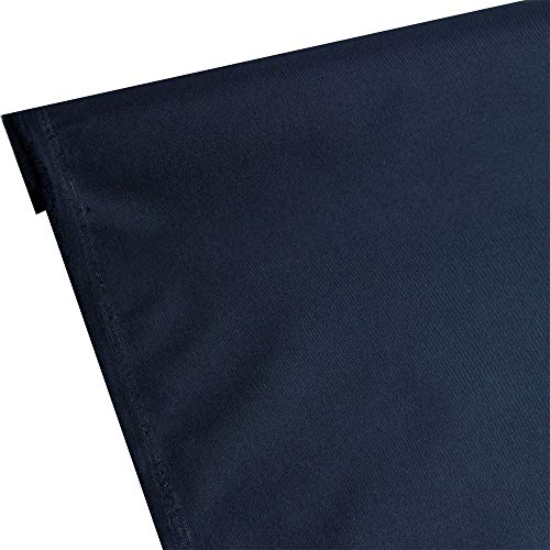 Waterproof Canvas Fabric Outdoor 600 Denier Indoor/Outdoor Fabric by the yard PU Backing W/R, UV, 2times GOOD PU Color : Midnight,Navy Blue 10 Yard ()