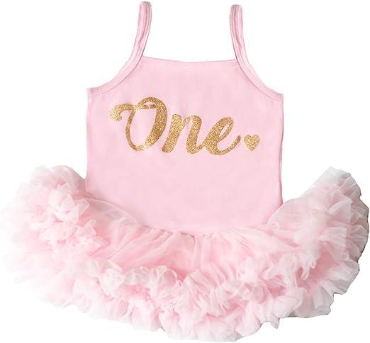 Amazon.com: Vestido de tutú para bebé, color rosa, para ...