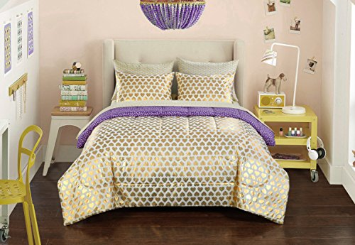Pop Shop Gold Hearts Bed in a Bag Twin 6 Piece