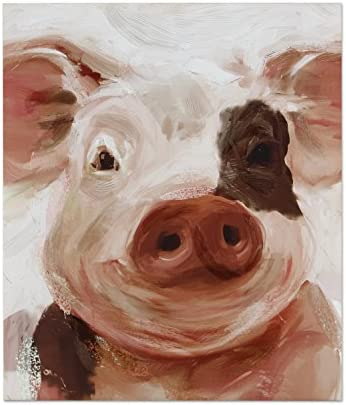 Young s Inc 19 x 2 x 22 Canvas Pig Wall Art