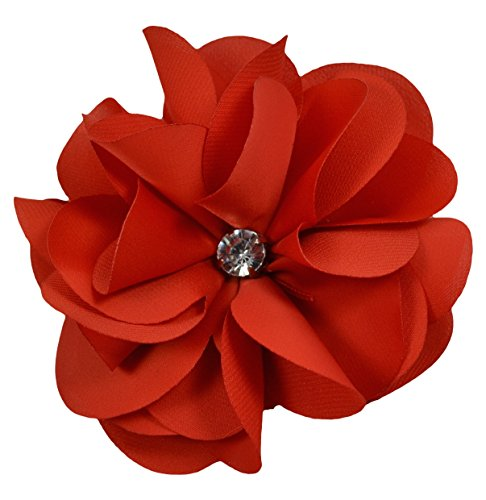 Ruby Satin Flower Hair Clip By Funny Girl Designs ()