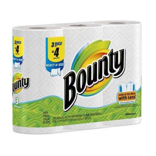 UPC 037000825234, Bounty Paper Towels 3 Select A Size Big Rolls (Pack of 8)