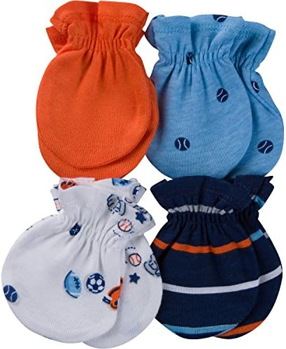 GERBER Baby Boys 4 Pair Mittens product image