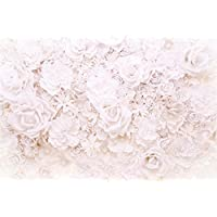 AOFOTO 10x7ft Wedding White Flowers Backdrops Bridal Shower Romantic Party Decoration Photography Background Girl Adult Lady Woman Couple Mother Artistic Portrait Activity Photo Studio Props Wallpaper