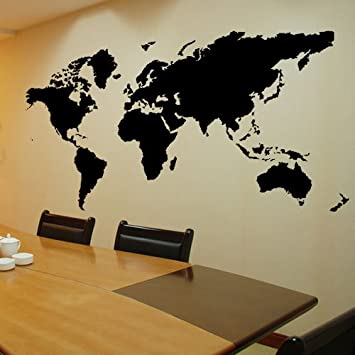 Amazon colorfulhall self adhesive wallpaper vinyl waterproof colorfulhall self adhesive wallpaper vinyl waterproof diy world map murals office and home wall decal gumiabroncs Gallery