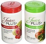 Juice Plus+ Orchard Blend & Garden Blend Capsules 3.2 oz. (1 Bottle Each/120 Capsules)