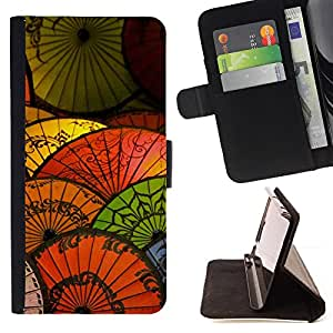 DEVIL CASE - FOR Apple Iphone 6 PLUS 5.5 - Oriental Chinese Japanese Umbrella Paper - Style PU Leather Case Wallet Flip Stand Flap Closure Cover