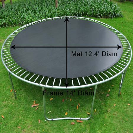 Koval Inc. Mat Replacement for 14' Round Trampoline w/ 88 Rings by KOVAL INC.