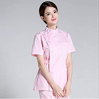 QZHE Abbigliamento medico I Vestiti Medici Dell'Ospedale Hanno Messo Il Servizio Medico Multi-Tasca Dell'Uniforme della Clinica Dentaria del Salone di Bellezza della Clinica
