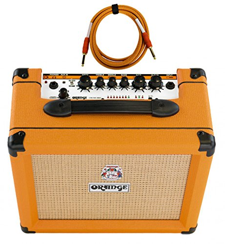 Orange Crush 20RT 1x8'' 20-Watt Combo with Reverb and Tuner Free Cable Bundle by Orange