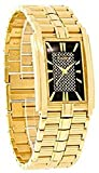 Elgin FG344 Men's Gold Tone Fashion Watch with Black Glitter Dial