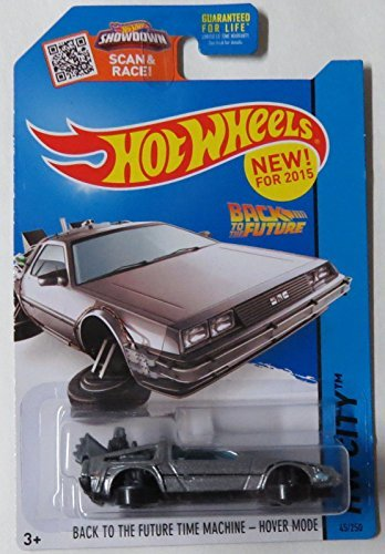 Hot Wheels, 2015 HW City, Back to the Future Time Machine Hover Mode Die-Cast Vehicle #45/250