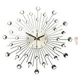 zane book package - Modern Art Large Wall Clock Metal Sunburst Home Decor DIY Clear Diamante Crystal 39cm x 39cm x 6.5cm