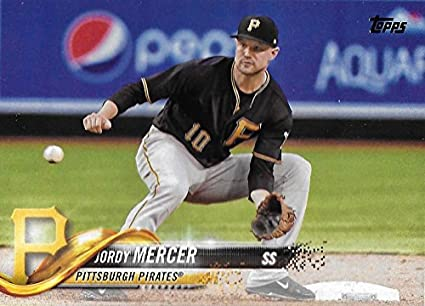 6d8352d55 Amazon.com  Baseball MLB 2018 Topps  23 Jordy Mercer  23 NM+ Pirates ...