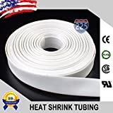 100 FT 3/8'' 9mm Polyolefin White Heat Shrink Tubing 2:1 Ratio