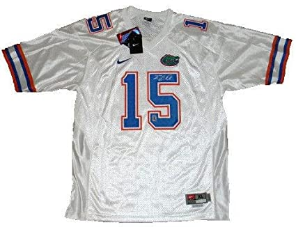finest selection fa21f 890c7 Tim Tebow Autographed Jersey - #15 White Nike Coa ...