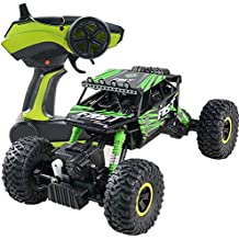 4WD RC Monster Jam Truck Off-Road Vehicle 2.4G All Terrain Remote Control Dune Buggy (Green)