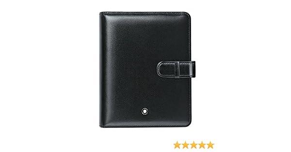 Montblanc Meisterstück pequeño Organizador/Agenda A7 Funda Organizador, Negro: Amazon.es: Equipaje