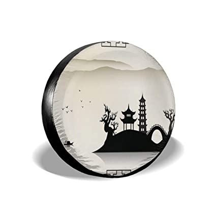 Belleeer Spare wheel cover Christmas Tree Tire Cover
