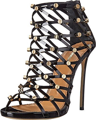 DSQUARED2-Womens-Studded-Strappy-Heeled-Sandal-Nero-36-US-Womens-6-M