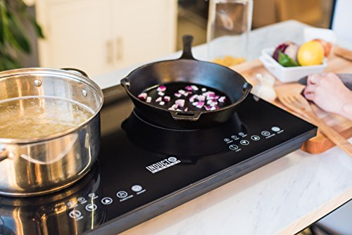 (Inducto Dual Induction Cooktop Counter Top Burner, Black )