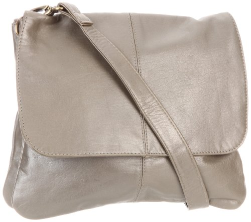 Latico  Jamie 7991 Cross Body,Metallic Gray,One Size, Bags Central