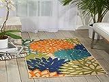 Nourison ALH05 Aloha Multicolor Contemporary Tropical Indoor/Outdoor Area Rug 2'8'' x 4'