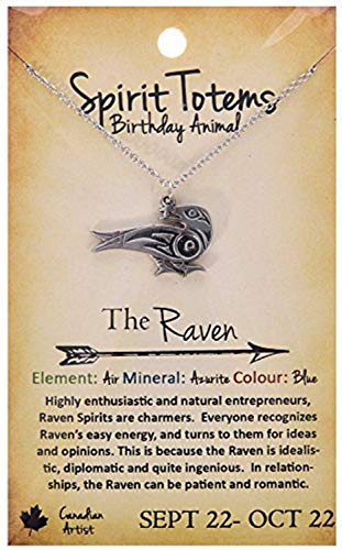 (Shag Wear Spirit Totems Birthday Animal Pendant Necklace (Raven Pendant))