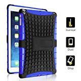 TCD for iPad Air 2 [iPad 6] Hybrid Grenade Armor Series w/ Kickstand Multiple Layers [Soft Silicone and Hard TPU Plastic] 2 in 1 Design High Impact Protection and Kickstand