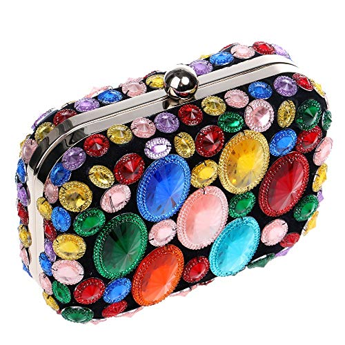 Shiny Party Dress colored Diamond girl Bridesmaid Bag women lady Maybesky Clutch Dinner Ladies' Multi awq1IAnz