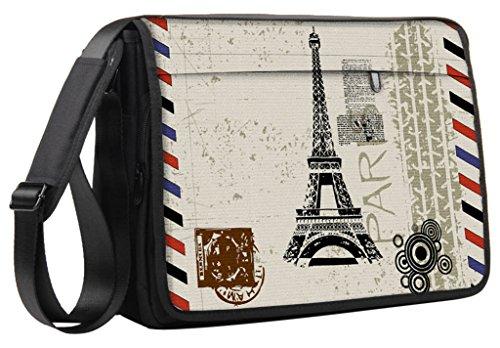 Luxburg® Luxus Design 43cm Schultergurt Messenger Tasche für Laptop/Notebook/