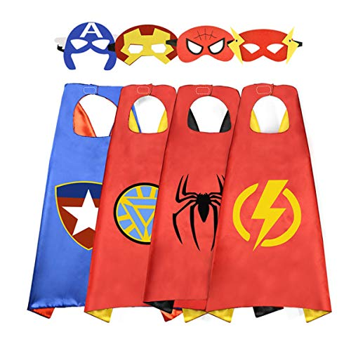 Fun Cartoon Capes Superheros Capes and Mask Dress Up Costume for Girls ()