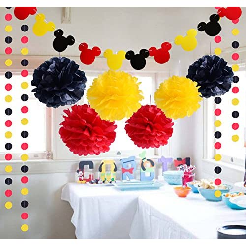60off Threemart Colorful Party Supplies Yellow Black Red For Mickey