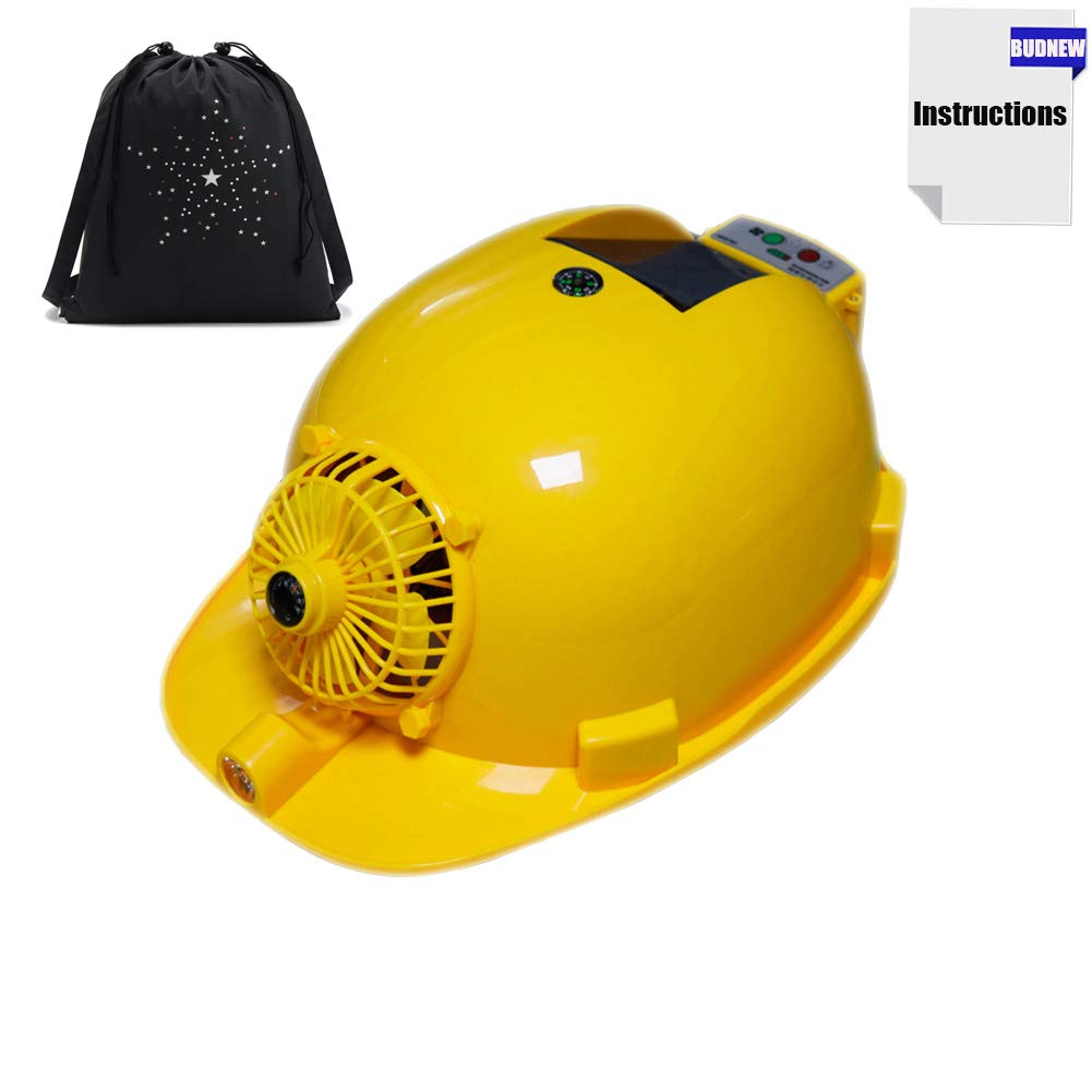 Summer Solar Cooling Hard Hat for Men and Women with Fan and Light,USB Output,3000mAh Built-in Battery