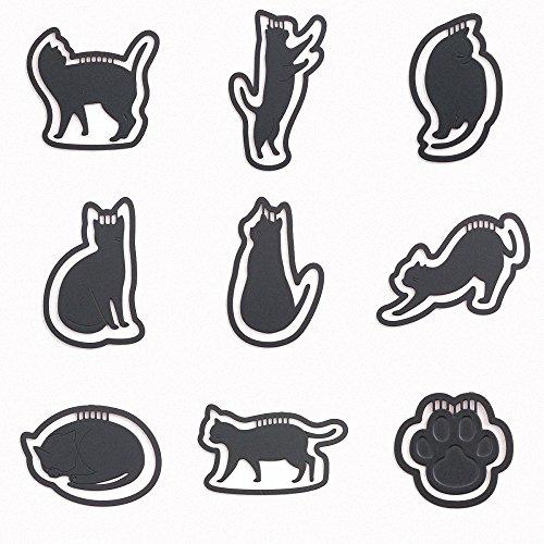 JoyTong Black Cats Metal Bookmark with Clip - Set of 9 - Hello Kitty Black Cat