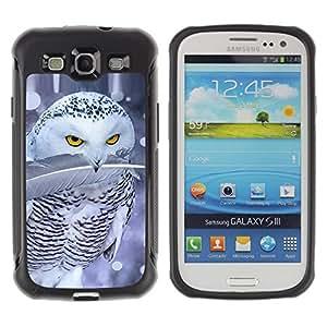 Suave TPU GEL Carcasa Funda Silicona Blando Estuche Caso de protección (para) Samsung Galaxy S3 III I9300 / CECELL Phone case / / Cute Owl Snow Winter Ferocious Feather /