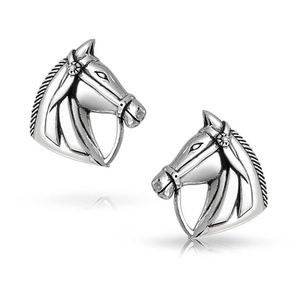 Monkimau Girl Earrings Zebra Stud Earrings made of 925 Sterling Silver Silver