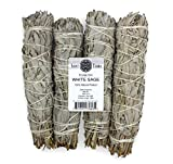 Saint Terra - Extra Large Jumbo White Sage Smudge Stick (8.5 Inches Long) Pack of 4