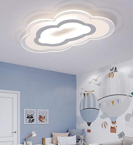 60W Lámpara de guardería Lámpara blanca para bebés Nubes de ...