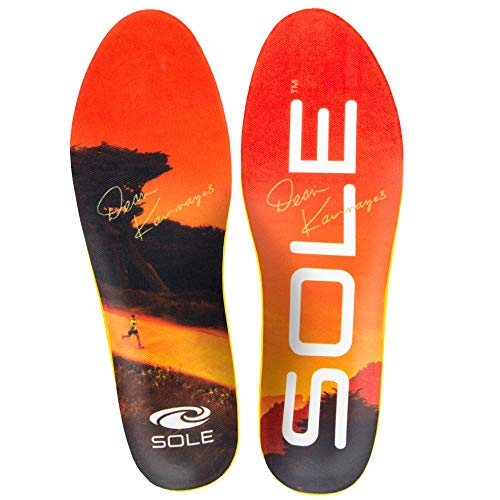 - SOLE Performance Medium Volume Footbed Insoles, Mens Size 10 / Womens Size 12 Orange
