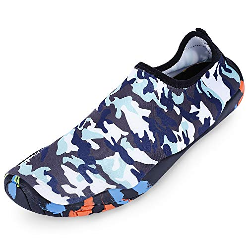 KCatsy Outdoor Round Toe Quick-Dry Non-Slip Breathable Flat Heel Beach Men Water Shoes