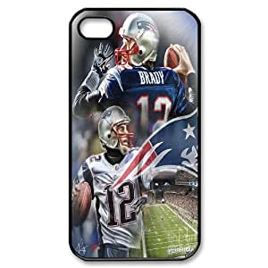 High Quality Phone Back Case Pattern Design 3Best athlete Tom Brady Pattern- For Iphone 4 4S case cover