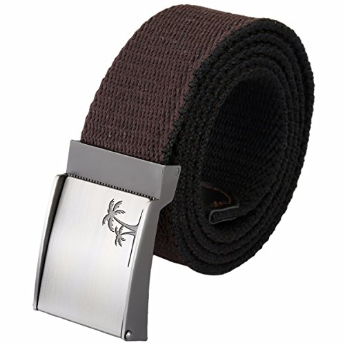 moonsix Canvas Web Belts for Men,Solid Color Military Style 1.5