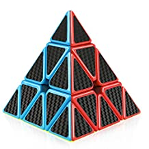 D-FantiX Pyraminx 3x3 Speed Cube Carbon Fiber Sticker Magic Cube Puzzle Toys for Kids