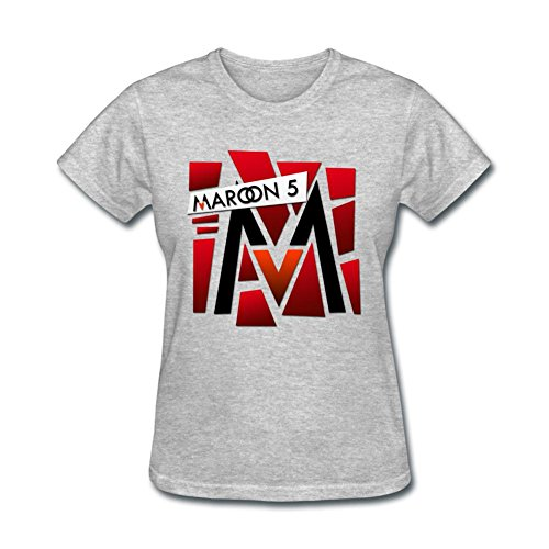 OPEND Women's The Band Maroon 5 T-shirt Grey XL